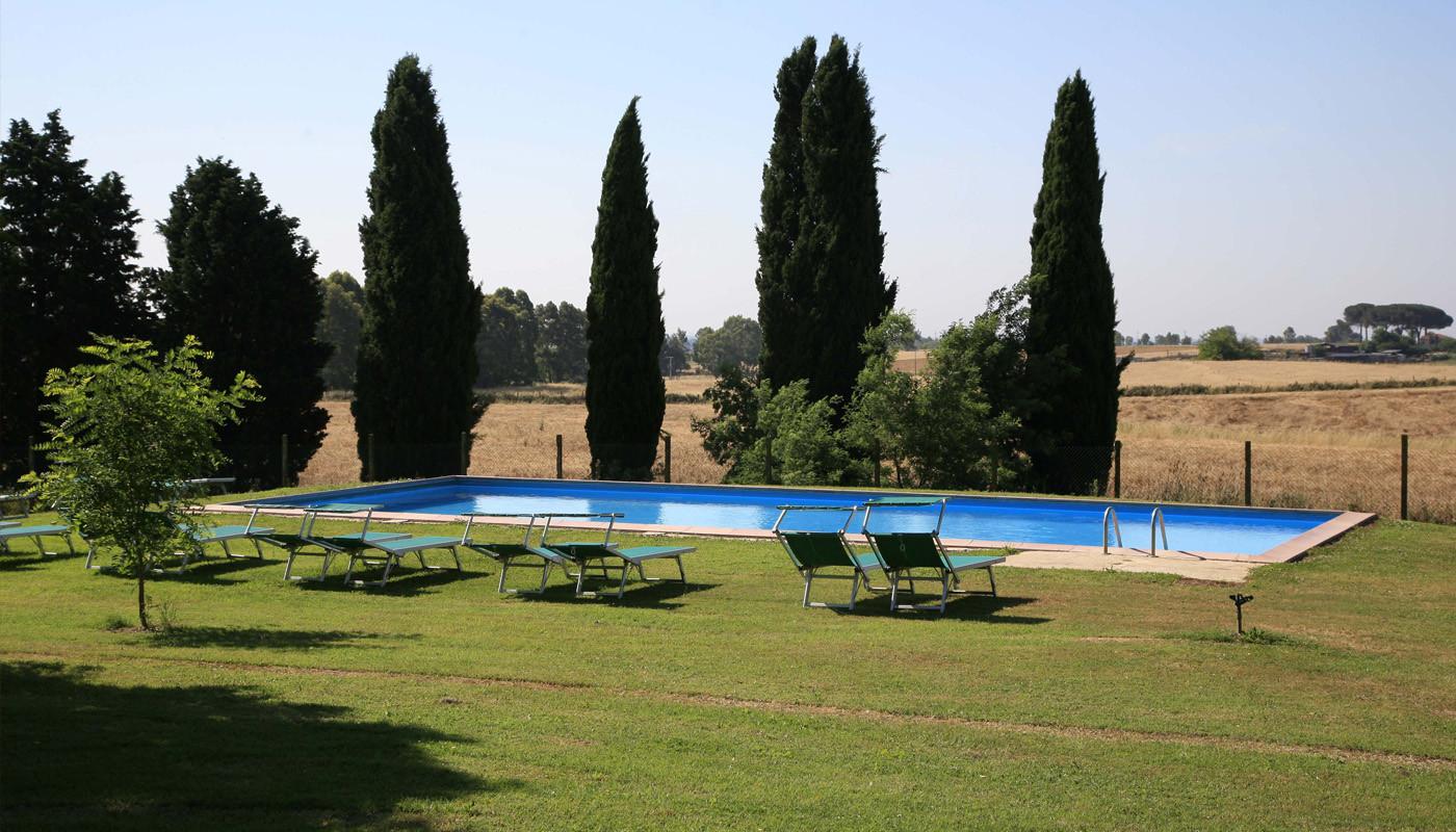 Agriturismo con piscina roma